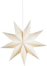 Markslöjd Solvalla stjerne, 45 cm, E14, hvit