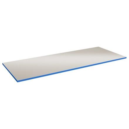 Bordsskiva Lätt 24 800x800 Grå HPL Blå ABS kant