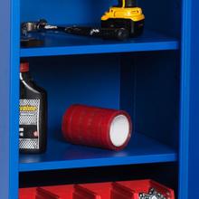 Hyllplan för enkelt verktygsskåp 495x420 Blå