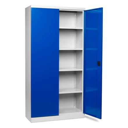 Verktygsskåp med 4 hyllor och låsbara dörrar 1000x435x1990mm
