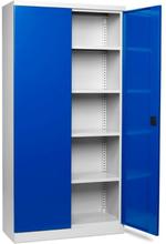 Verktygsskåp med 4 hyllor och låsbara dörrar B1000 D435 H1990
