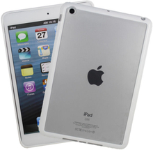 iPad Mini mat transparent bumpercover. Hvid.