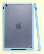 iPad Mini mat transparent bumpercover. Sky blue.