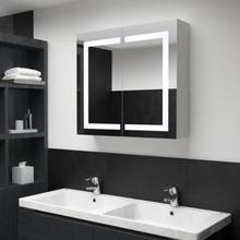 LED baderomsspeilskap 80x12,2x68 cm