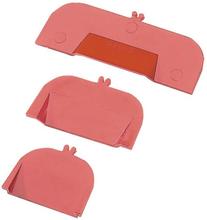 Avdelare i röd plast till lådinredning bredd 45mm