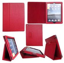 Lædertaske /-holder til iPad 2/iPad 3/iPad 4. Rød.