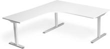 Höj och sänkbart skrivbord ProfiS 52V 1800 x 1800 mm - Vitlaminat, 3-ben elektriskt Vit