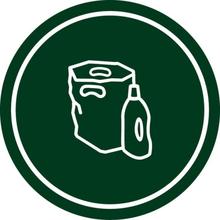 Källsortering Dekal Plast
