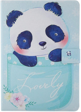 iPad Mini 1/2/3/4/(2019) Læder Cover m. Stand - Lovely Panda