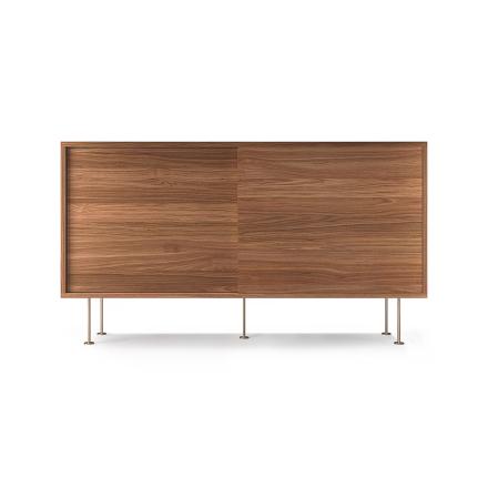 Decotique - Vogue Sideboard 136L, Valnøtt/2W/Messing