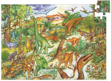 Djeco - Pussel + Bok - Dinosaurier