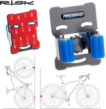 RISK 2019 New MTB Road Bicycle Wall Parking Clamp Rack Bike Holder Mountain Bike Storage Rack Cycling Tire Support Stand Mount