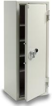 Säkerhetsskåp ljusgrå med nyckellås 1600x600x480 mm