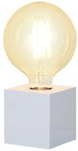 Star Trading KUB E27 lamphållare 9x9cm, vit 7391482015518 Replace: N/AStar Trading KUB E27 lamphållare 9x9cm, vit