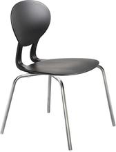 Rocka stol med 4 ben svart/gråmetallic sitthöjd 440 mm