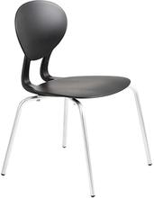 Rocka stol med 4 ben svart/silvergrå sitthöjd 440 mm