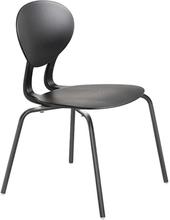 Rocka stol med 4 ben svart/mörkgrå sitthöjd 440 mm
