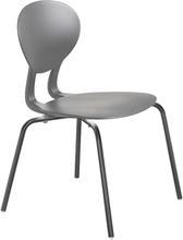 Rocka stol med 4 ben grå/mörkgrå sitthöjd 440 mm