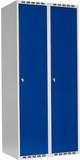 Klädskåp Plant tak 1-fack 2x400mm blå dörr