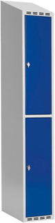 Garderobeskab 2-delt 1x300mm Blå dør Cylinderlås