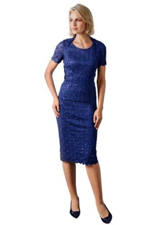 Tvådelad klänning i festdesign blå 38 by Atelier Goldner Schnitt