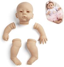 RSG Reborn Baby Doll 21 Inches Lifelike Newborn Bebe Reborn Harlow Vinyl Unpainted Unfinished Doll Parts DIY Blank Doll Kit