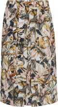 Kjol bladprint från Peter Hahn mångfärgad