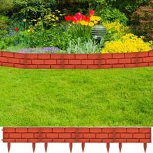 vidaXL Trädgårdskant med tegel design 11 st