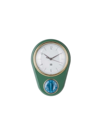 Retro Wall Clock w. kitchen timer