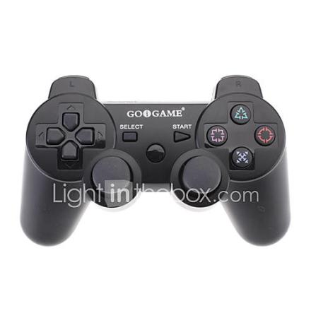 GOiGAME Wired Double väriohjaimella PS3 (musta valkoinen)