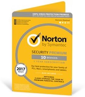Norton Security Premium Antivirus Software / 10 enheder (12 mdr) / download