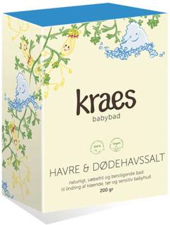 KRAES babybad Havre & Dødehavssalt, 200 g