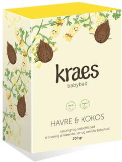 KRAES babybad Havre & Kokos, 200 g