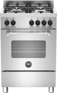 Bertazzoni MAS604 Gasspis med gasugn 60 cm, 1 ugn, 4 zoner, modell XE, Rostfri