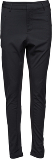 Pants With Rib Inserts Bukser Med Lige Ben Sort Saint Tropez