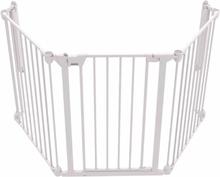 Noma Säkerhetsgrind med 3 paneler Modular metall vit 94054