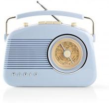 FM-radio | Bordsdesign | AM / FM | Batteridriven / Strömadapter | Analog | 4.5 W | Hörlursuttag | Bärhandtag | Blå
