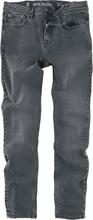 Shine Original - Black Stonewash Slim Fit -Jeans - svart