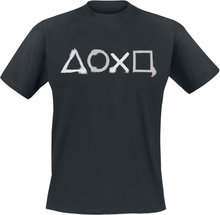 Playstation - Buttons -T-skjorte - svart