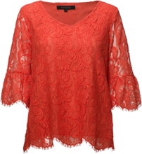 f5502c8e Pia Blouse T-shirts & Tops Long-sleeved Rød SOFT REBELS