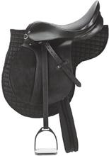 Kerbl Ponny-sadel svart läder 32196