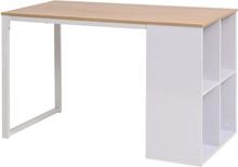 vidaXL Skrivbord 120x60x75 cm ekfärg och vit
