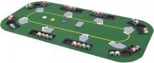 vidaXL foldbar pokerbordplade til 8 spillere 4-fold rektangulært grøn