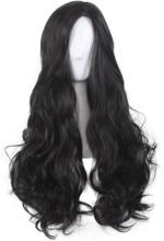 Diana Cosplay-peruk Svart Långt Lockigt Vågigt Peruker För Vuxna Svart