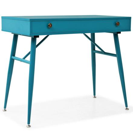 vidaXL skrivebord med skuffe 90 x 50 x 76,5 cm antikgrøn