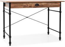 vidaXL Skrivbord med låda 110x55x75 cm ekfärg