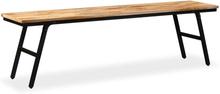 vidaXL Bänk återvunnet teakträ och stål 160x35x45 cm