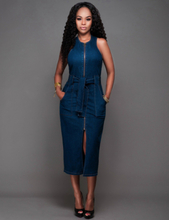 Fashion Sleeveless Denim Dress