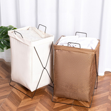 Foldable Dirty Laundry Basket Waterproof Fabric Storage Basket For Clothes Toys Household Bathroom Laundry Organizer Bags