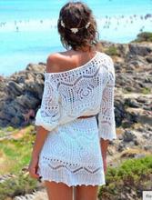 Vit Strandklänning med bälte